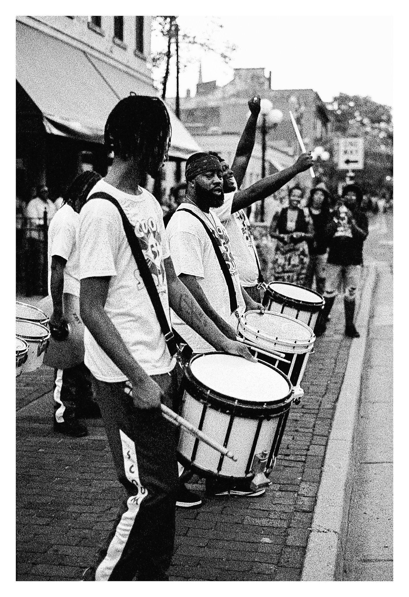 Scoon Squad in the Oregon District - Nikon F5 with 50mm f/1.4 lens at f/2.8 in A-Priority mode on Kodak TMAX P3200 film