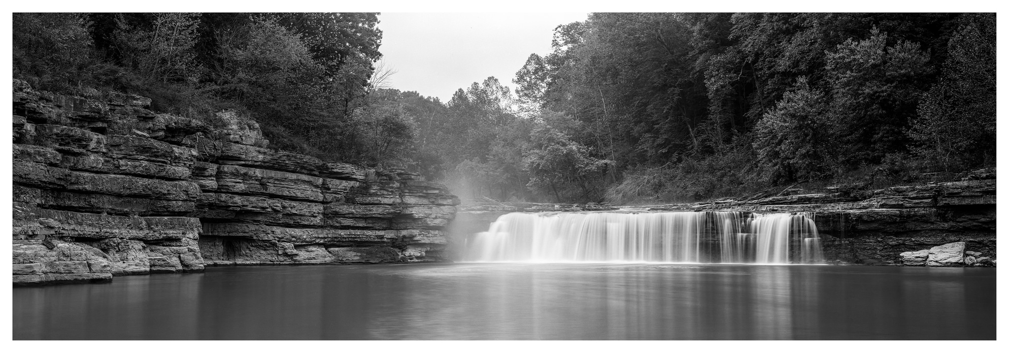 Cataract Lower Falls in the Mist - Fuji GX617 with ACROS 100 film, long exposure
