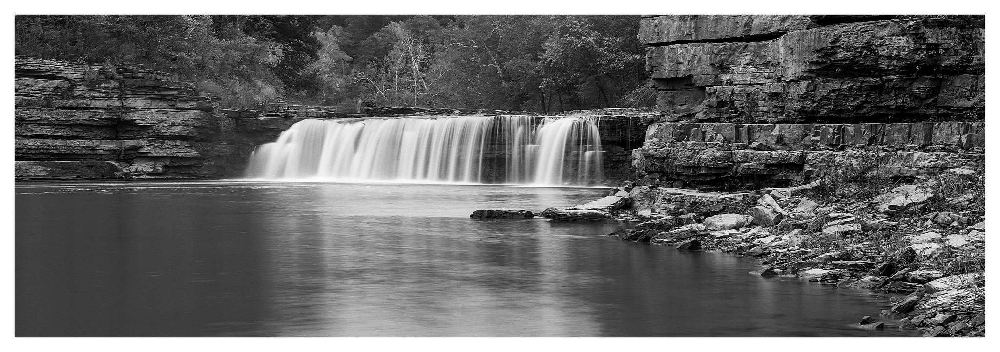 Cataract Lower Falls - Fuji GX617 with ACROS 100 film, long exposure