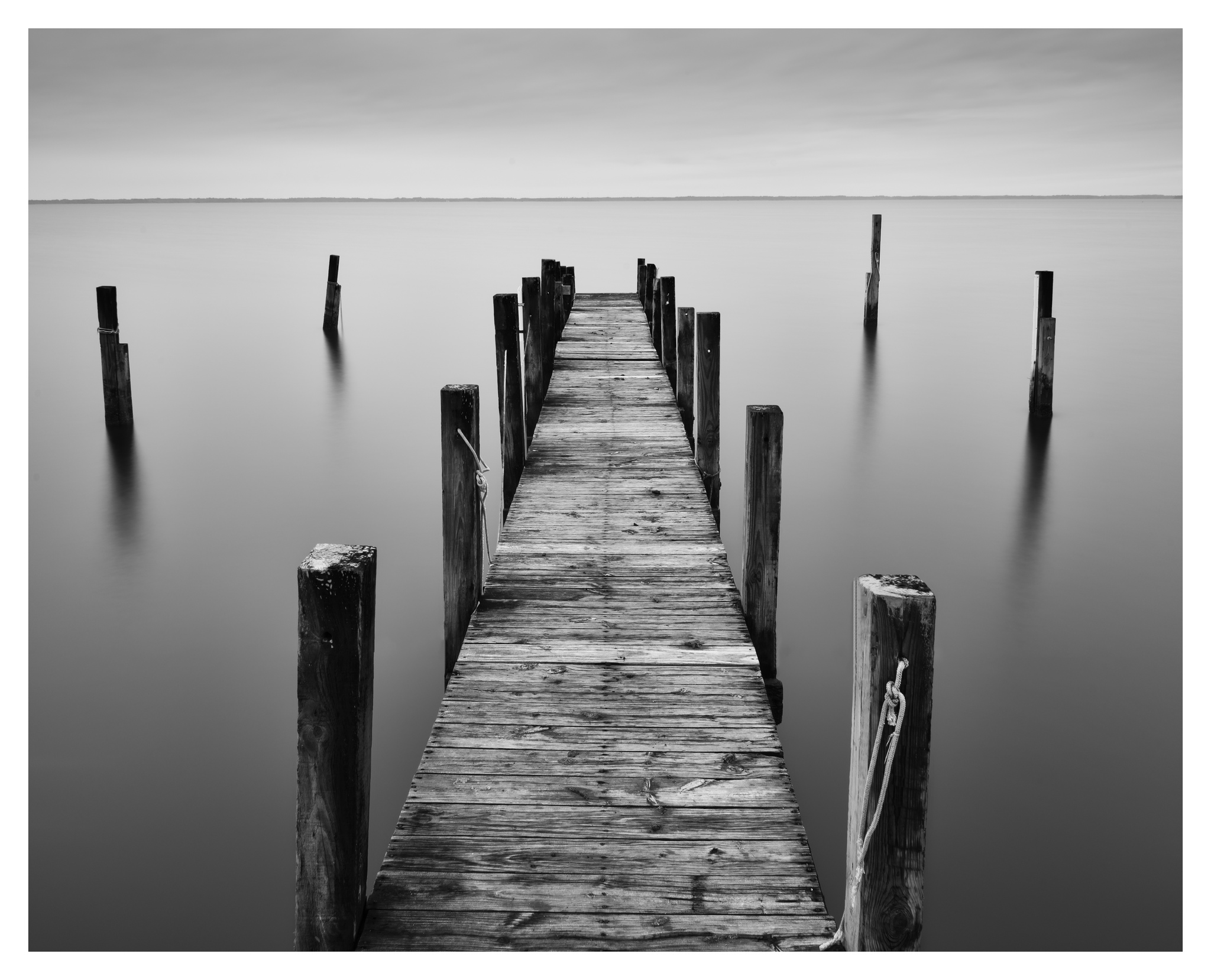 Dock at Duck - Nikon D750 w/24-85mm lens, long exposure