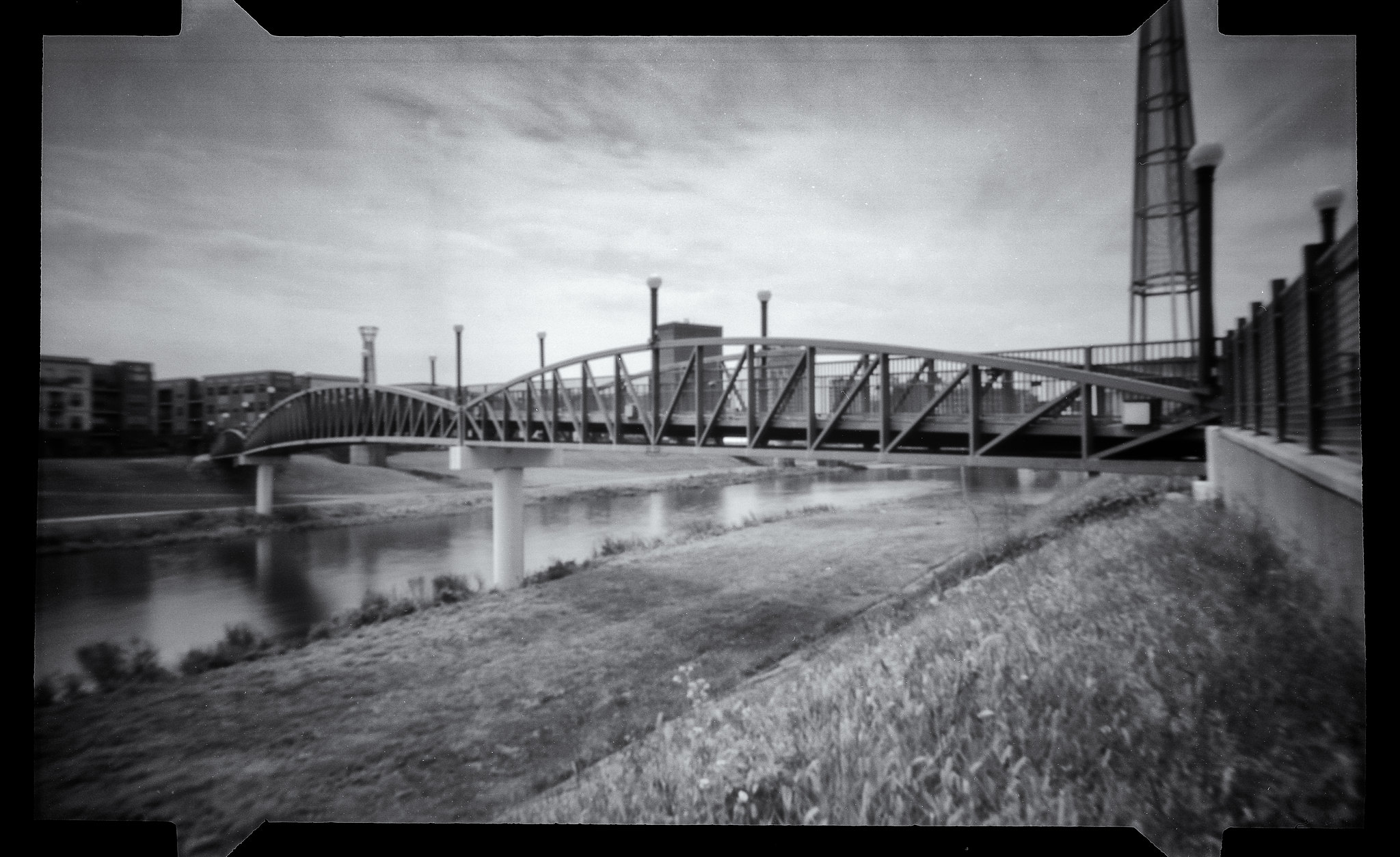 Bridge to Dayton - NOON 612 Pinhole Camera with Fuji ACROS 100 film