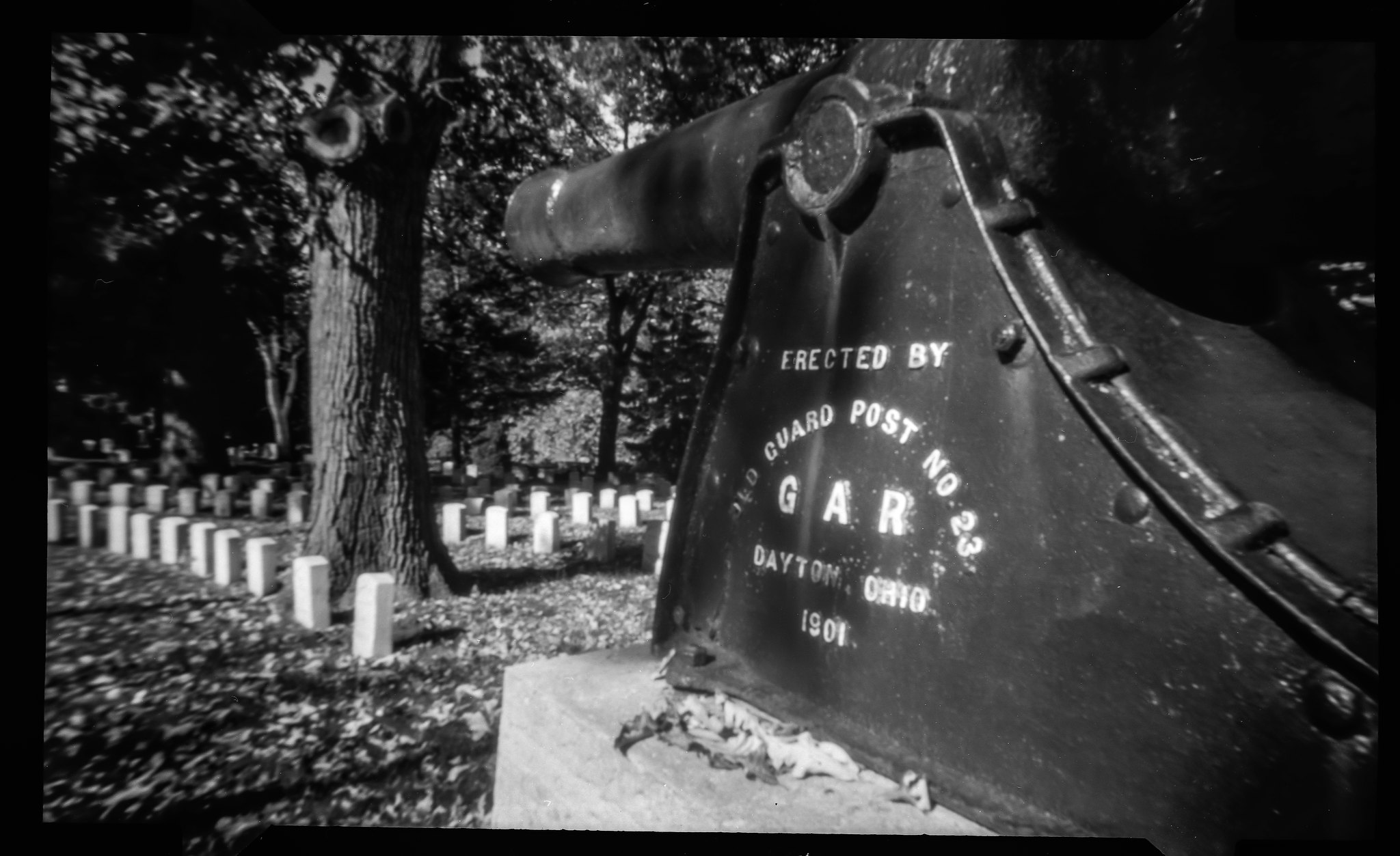 Woodland Cemetery - NOON 612 Pinhole Camera on Fuji ACROS 100 film