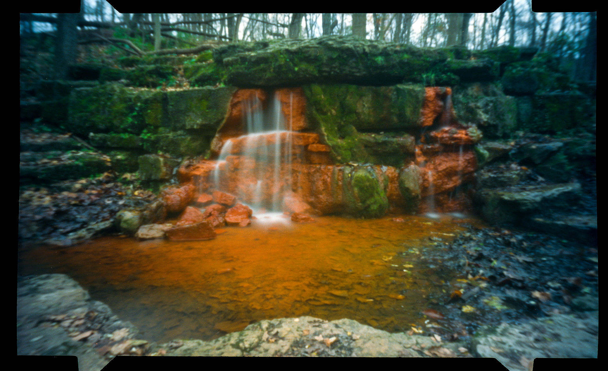 The Yellow Springs at Glen Helen - NOON 612 Pinhole Camera on Kodak Ektar 100 film