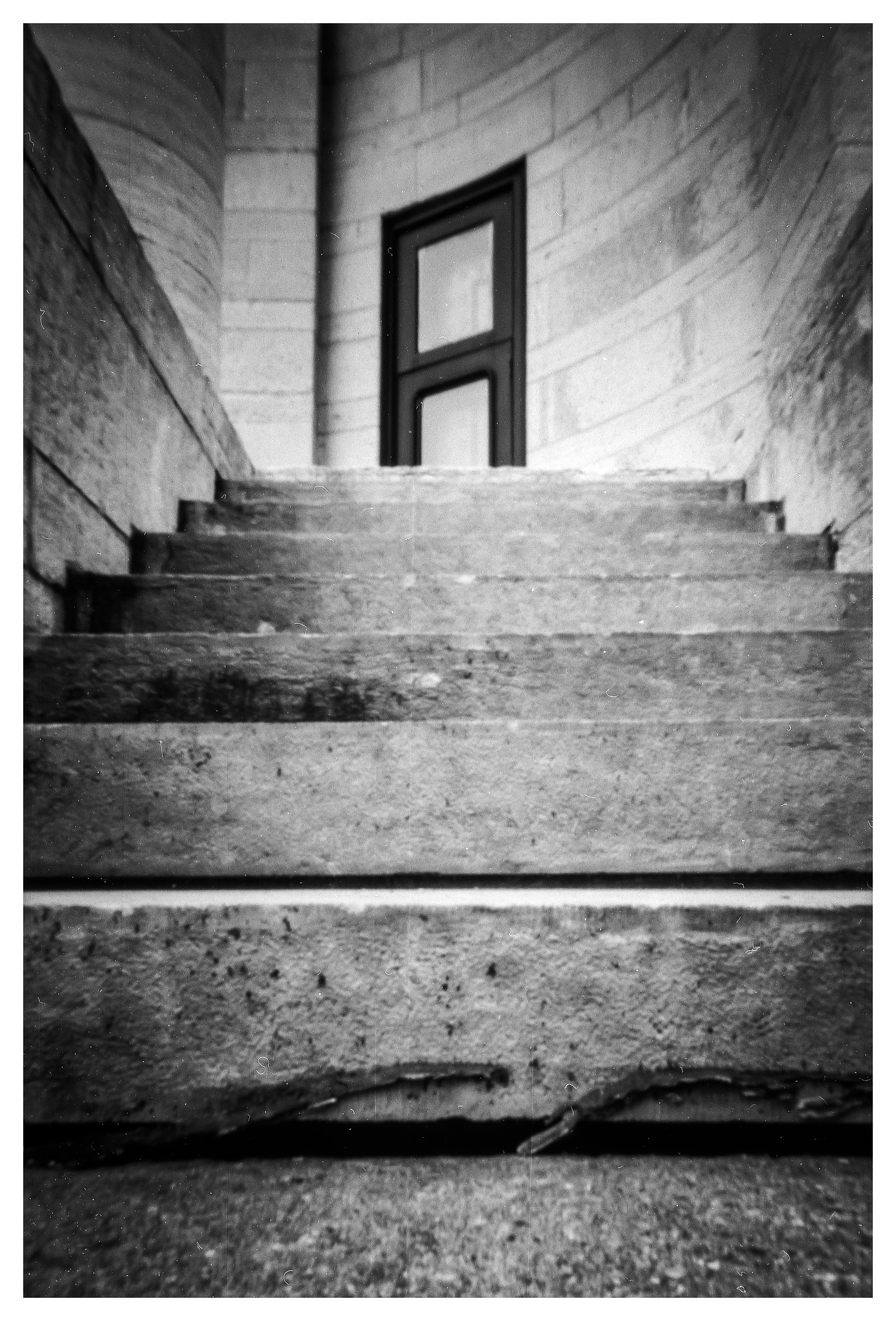 Old Montgomery Courthouse Back Door- NOON 612 Pinhole with HP5+ film