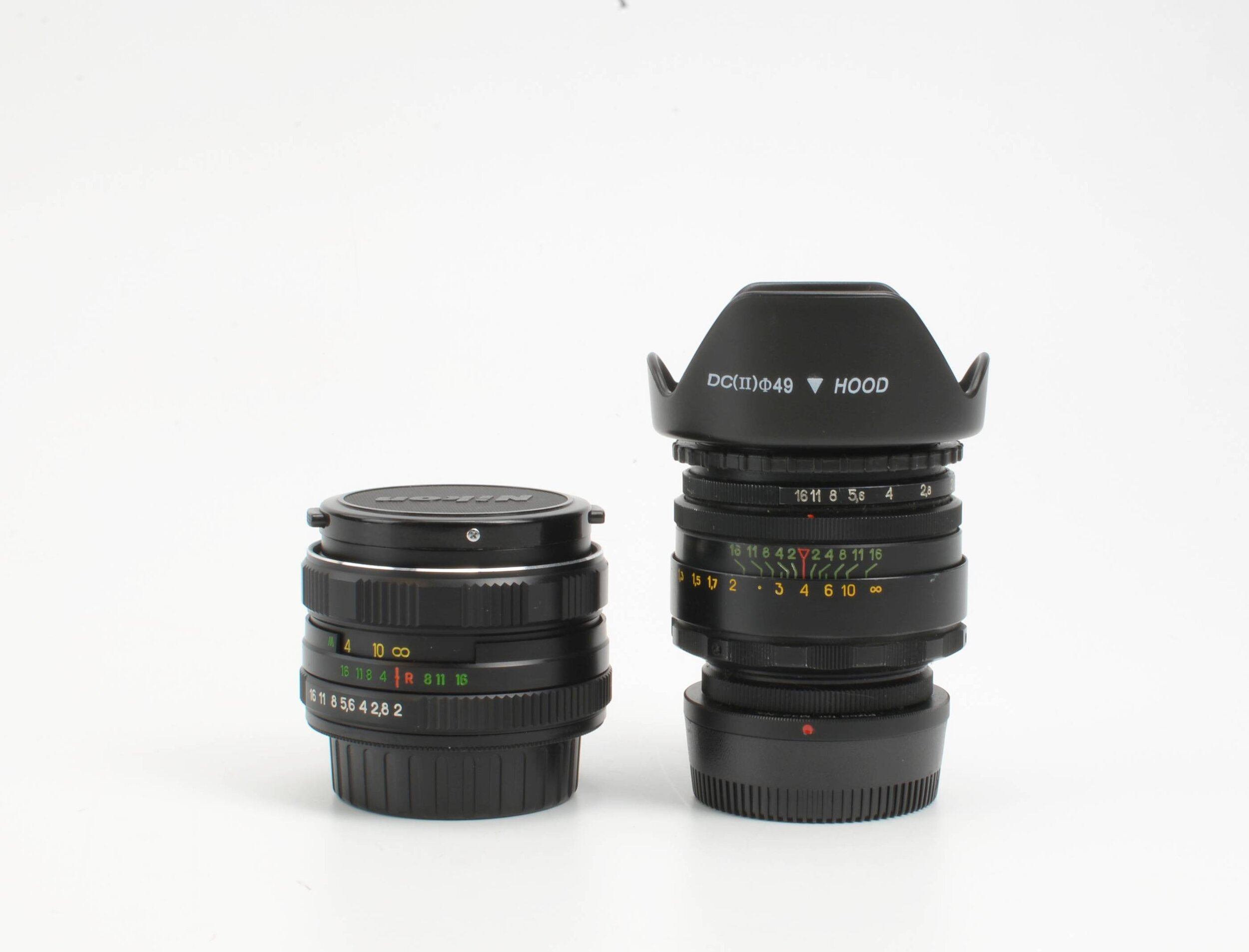 Zenit Helios Lenses - M44-7 on the left, M44-2 on the right.