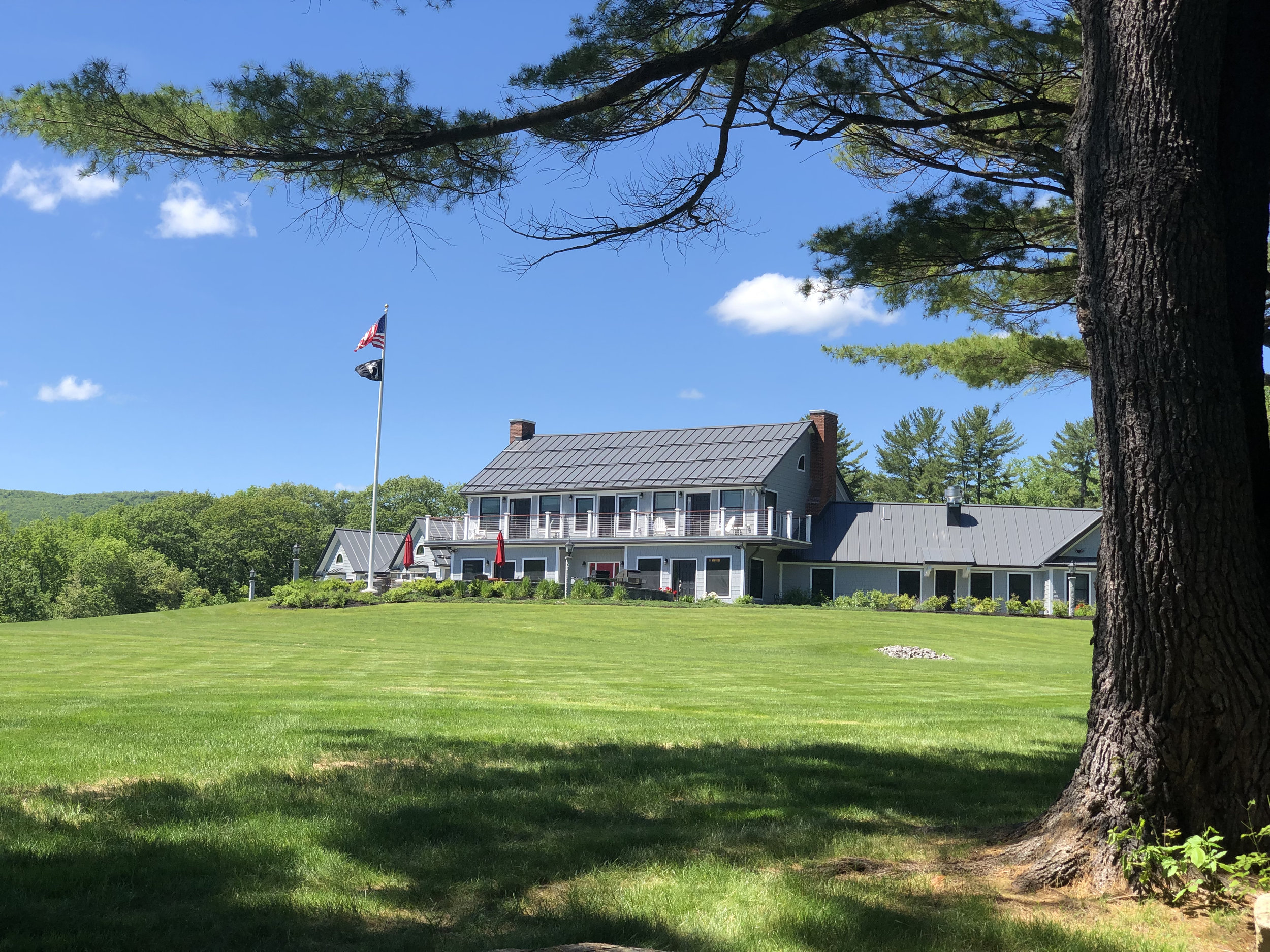 The Maine Chance Lodge renovated and turned into the Travis Mills Foundation Veteran Retreat.