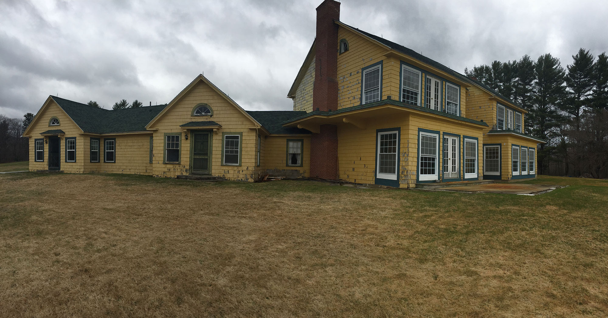 The Maine Chance Lodge before renovations began.
