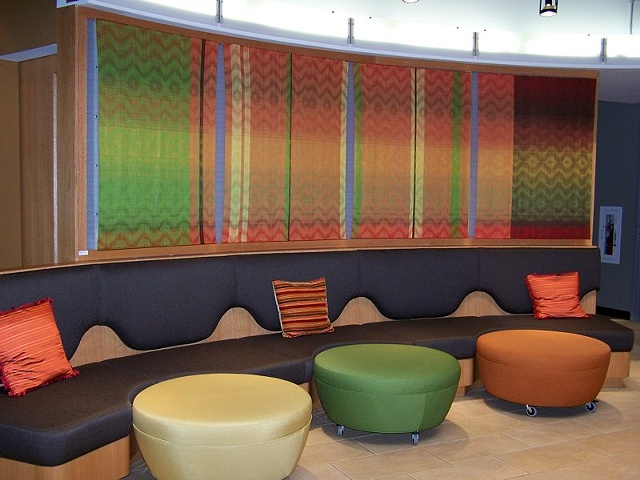 Multi Colored Four Hand Woven Panels