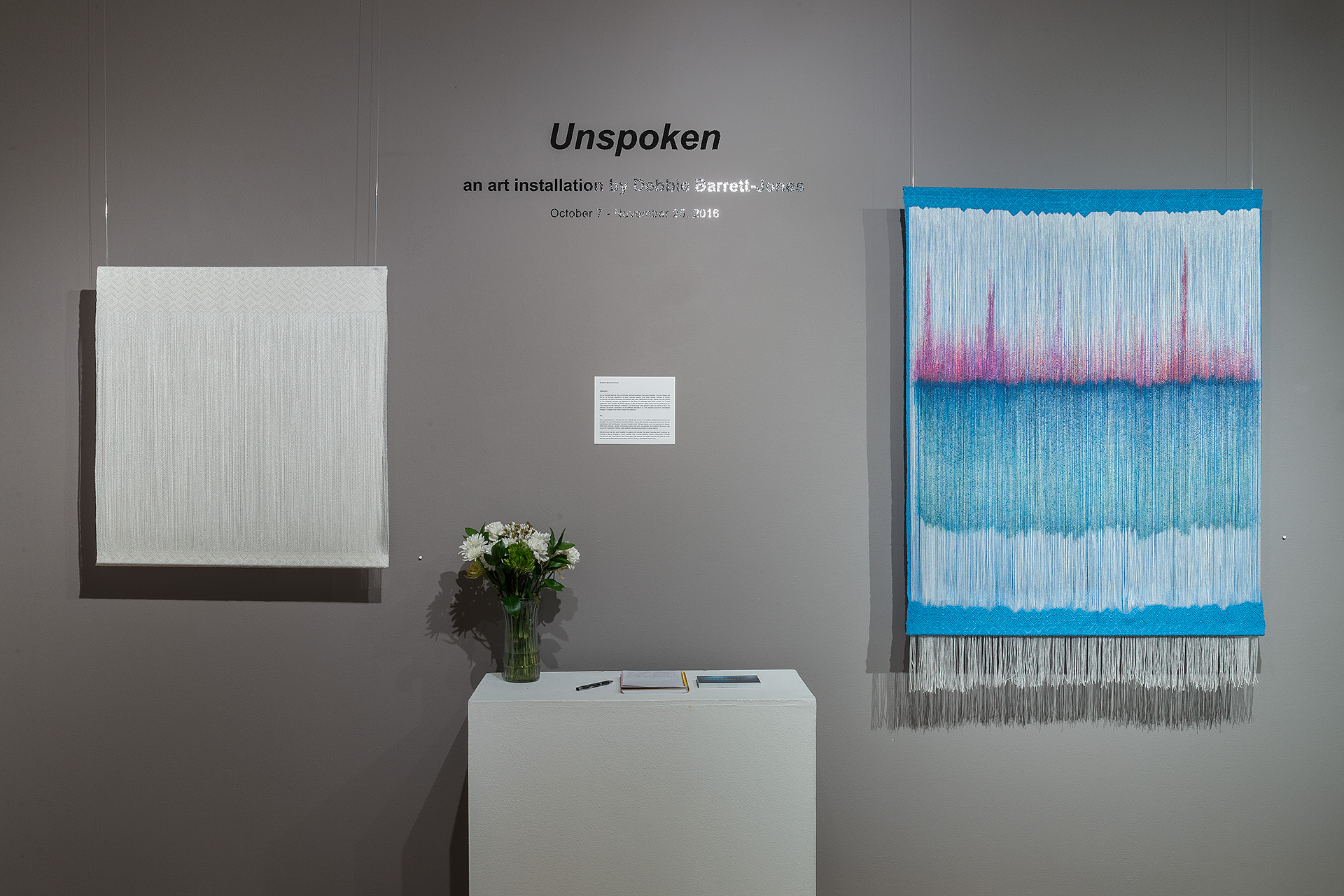 Unspoken; an art installation by Debbie Barrett-Jones   Leedy-Voulkos Art Center   Kansas City, MO