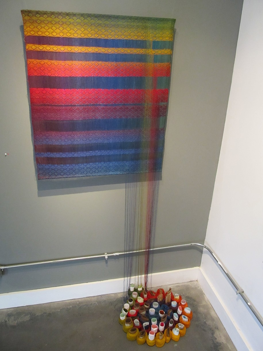 Fifty Weft Colors Woven Textile   Leedy-Voulkos Art Center  Kansas City, MO