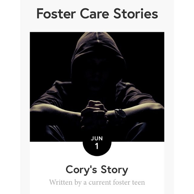 Today's post (link in profile) is by Cory, a current foster teen who wanted to remain anonymous.  _____________________________ Cory shared his story with me in the hopes of spreading a message to other #fosterkids to not give up. And his words to foster carers cuts down to the core truth of fostering: love your kids and be a family. It's what every kid needs.