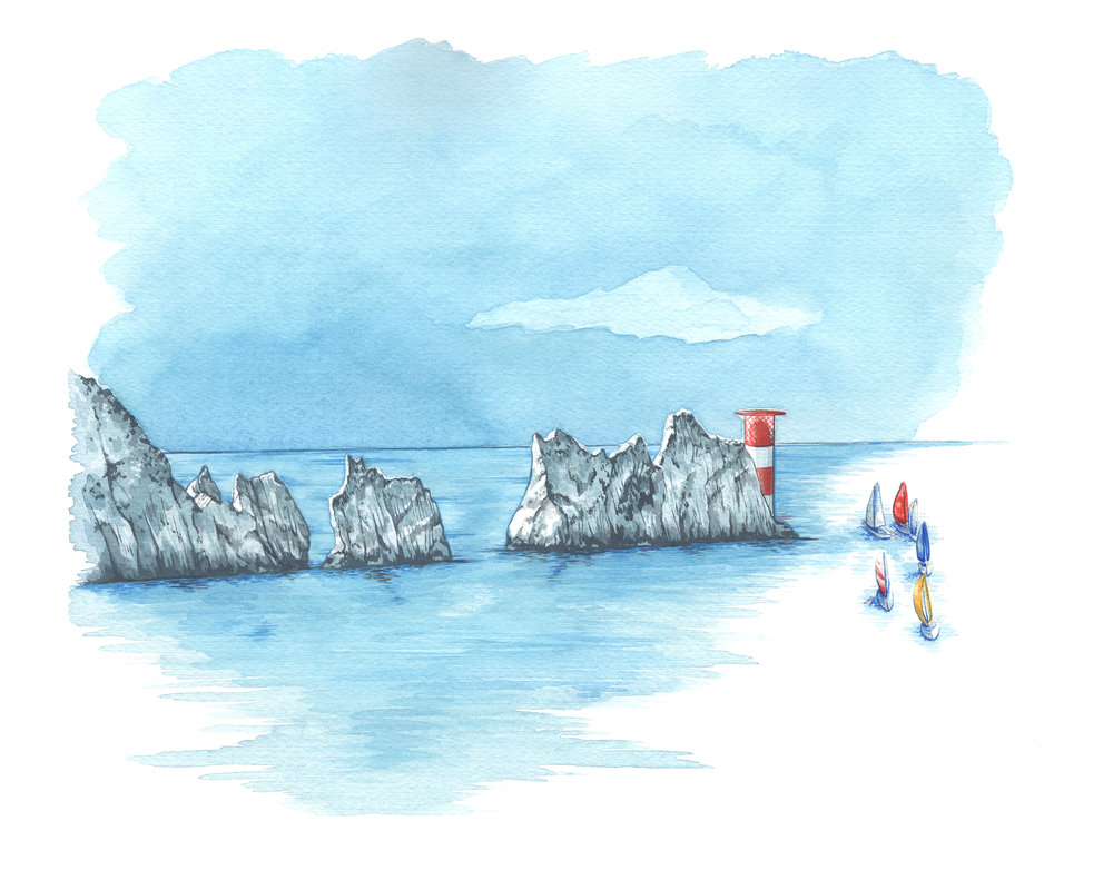 Isle of Wight High quality giclee print The Needles