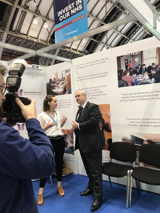 Conservative Party Conference 2019 - We had the pleasure of meeting the Attorney General Geoffrey Cox at the Conservative Party Conference and telling him all about the work we do with disadvantaged schools. It was great to speak to someone who is so interested in how we are working to level the playing field of opportunity.