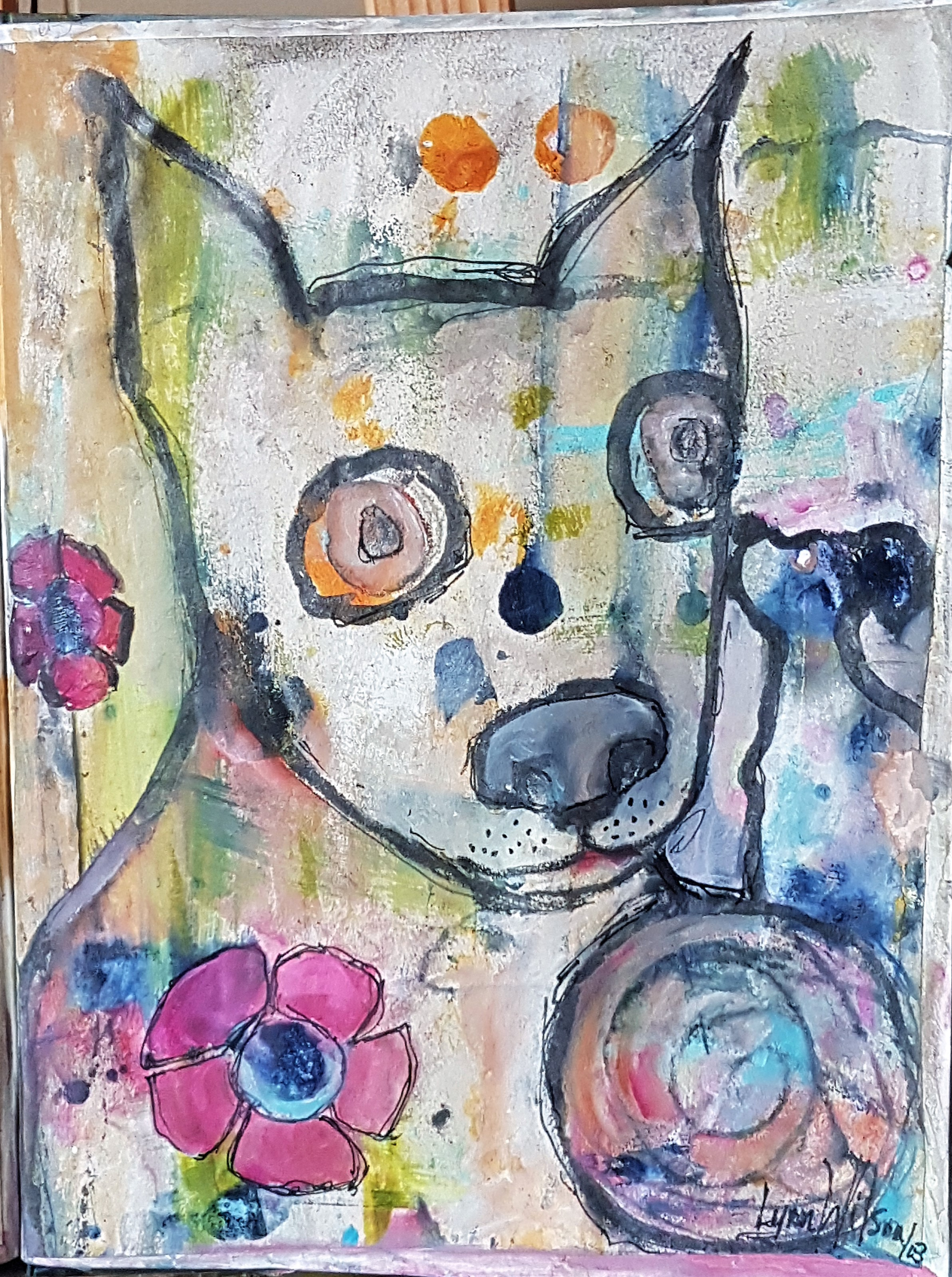 lynn wilson - Journal 00th page BIG AND LITTLE DOGS .jpg