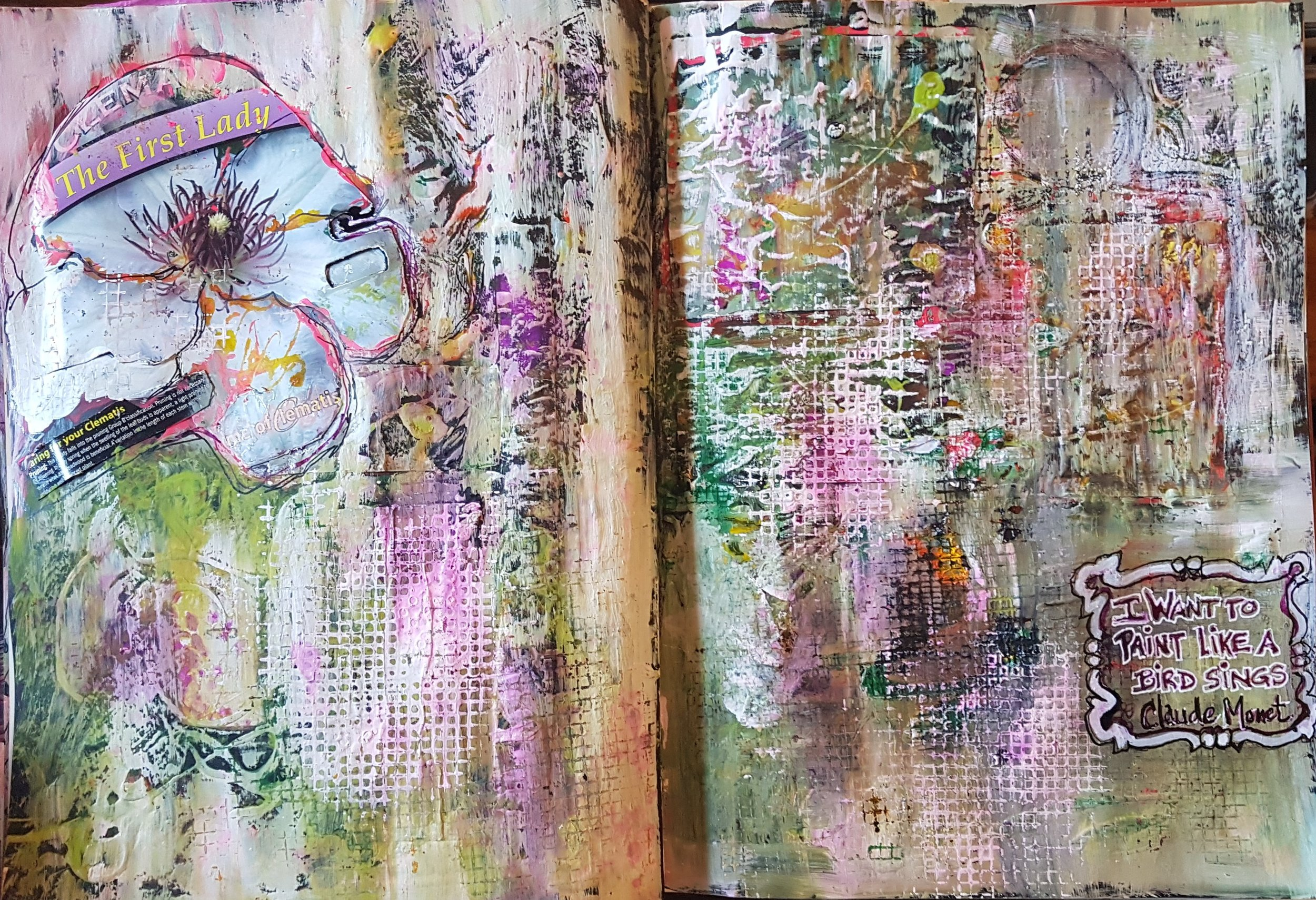 Journal Three I Want To Paint Like A Bird Sings Claude Monet May 2018 .jpg