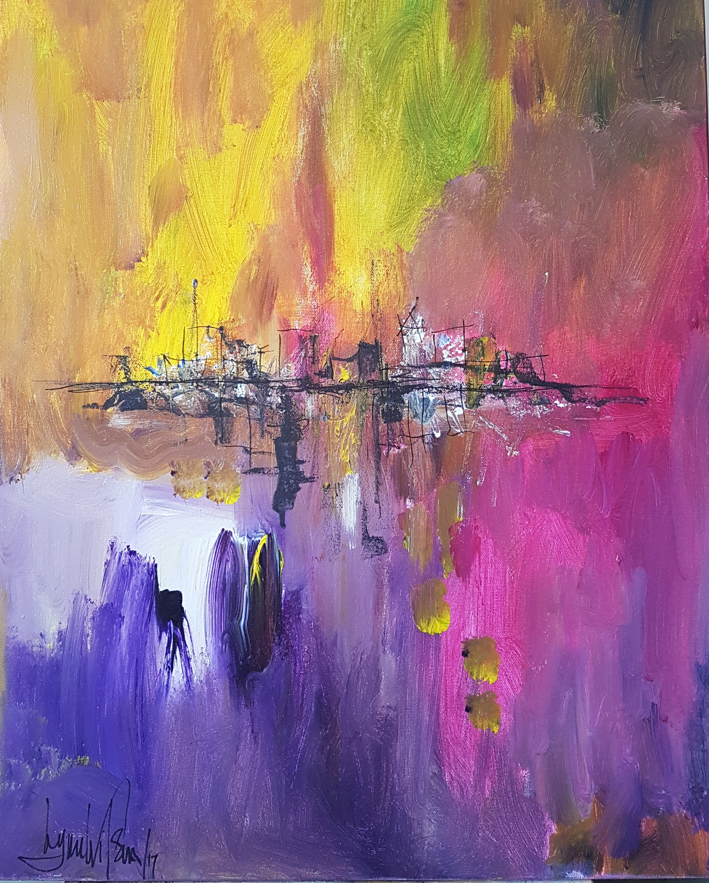 City Shoreline Oct 2017 painted in live demo at King Heritage Centre.jpg