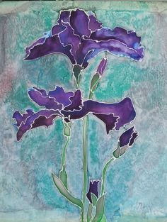 Silk hand painted bearded iris from pinterest post.jpg