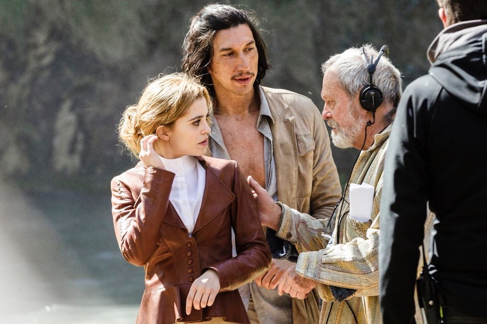 Joana onset with Co-Star Adam Driver & Director Terry Gilliam