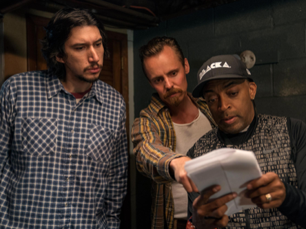 Jasper with Adam Driver & Director Spike Lee on set.