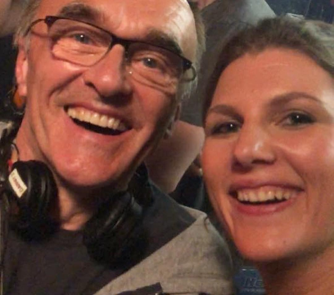 Maryana with Danny Boyle on set.
