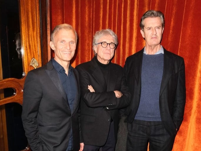 Richard with director Giacomo Battiato, and Rupert Everett.