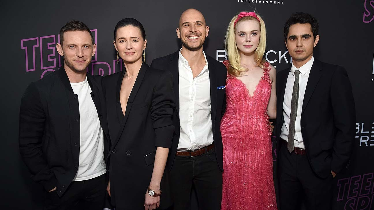 Jamie Bell, Agnieszka, Fred Berger, Elle Fanning, and Max Minghella at the US Premiere.