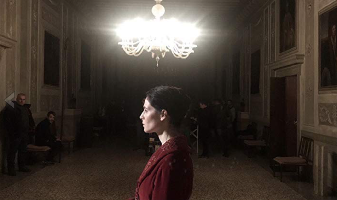 """Yulia on the set of """"The New Pope"""""""