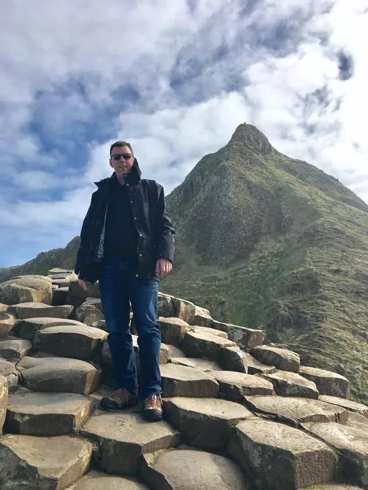 This picture was taken of me at The Giant's Causeway in Northern Ireland