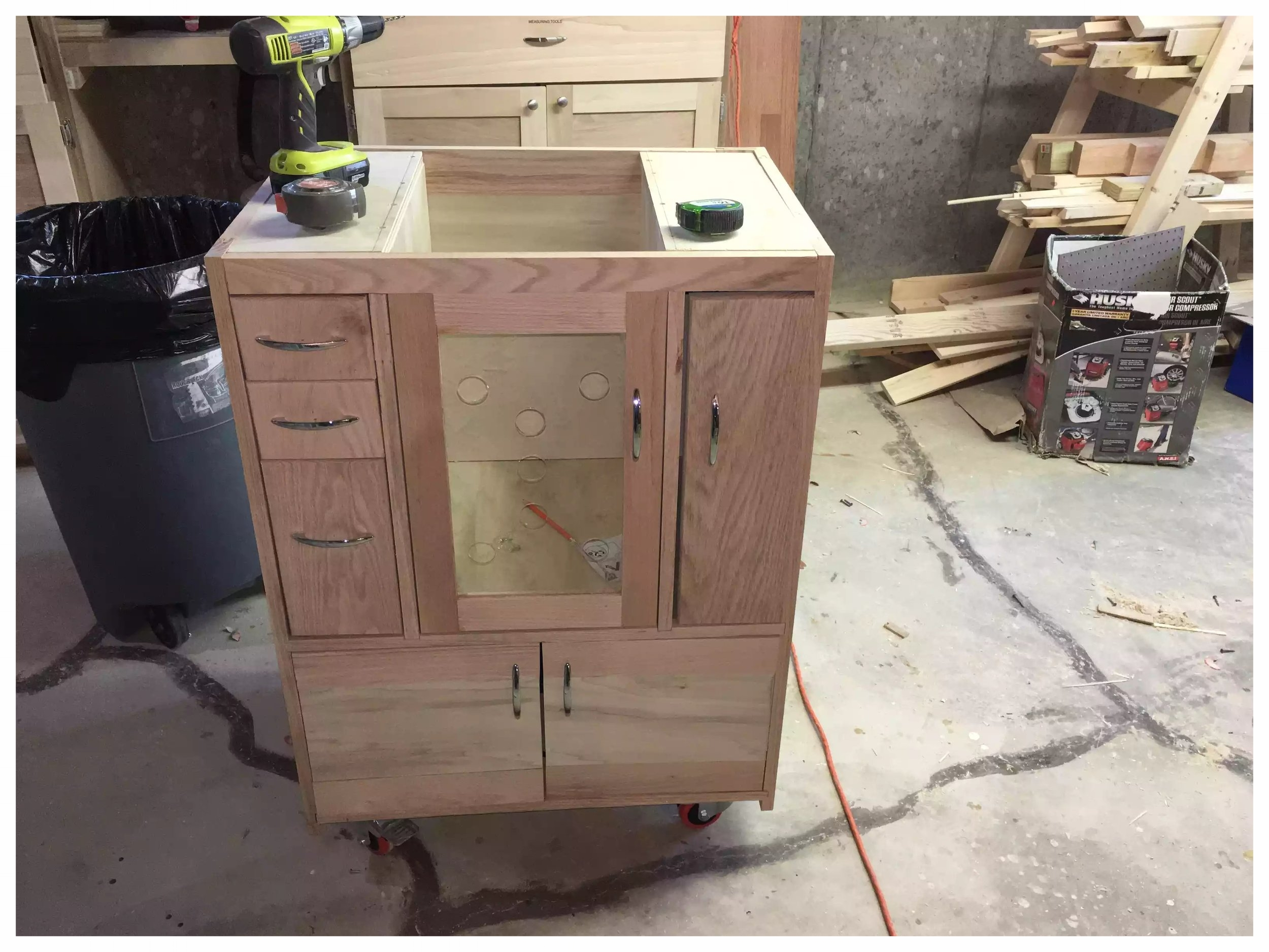 Cabinet built