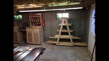Lumber Storage Rack (On Wheels)
