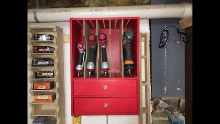 DIY Tyler Inspired: Nail Gun Storage
