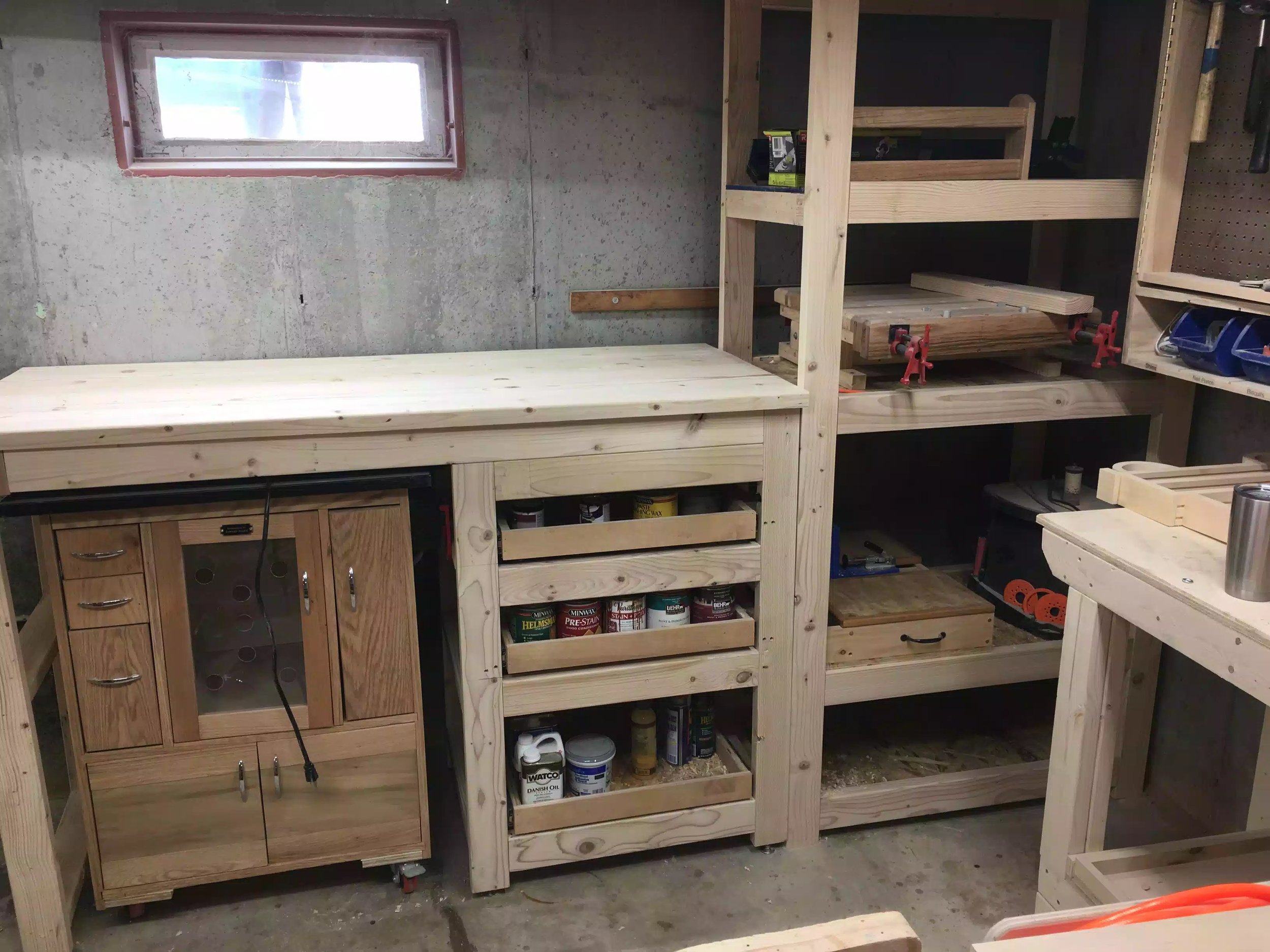 Shelving Unit & Bench