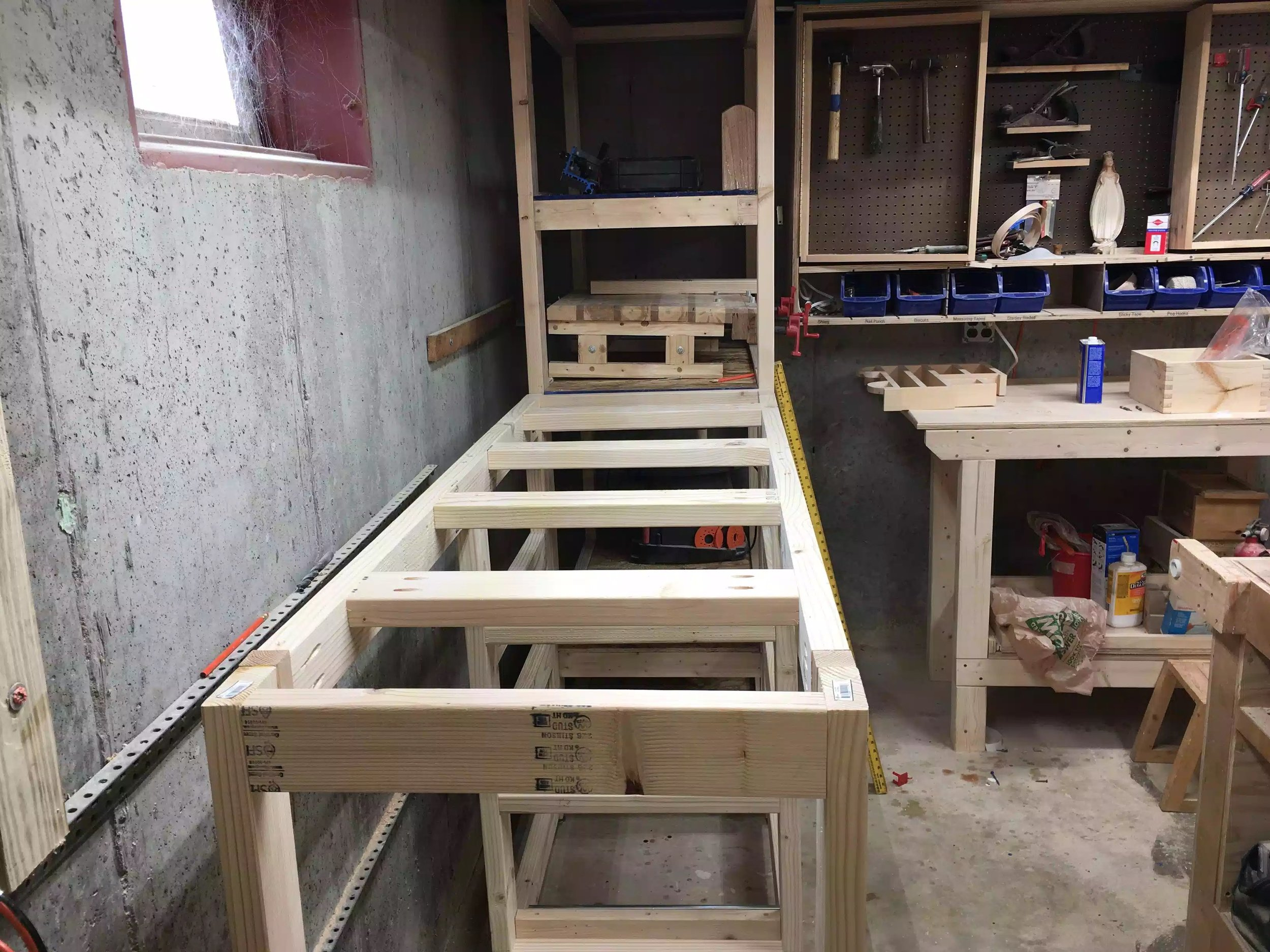 Bench framing