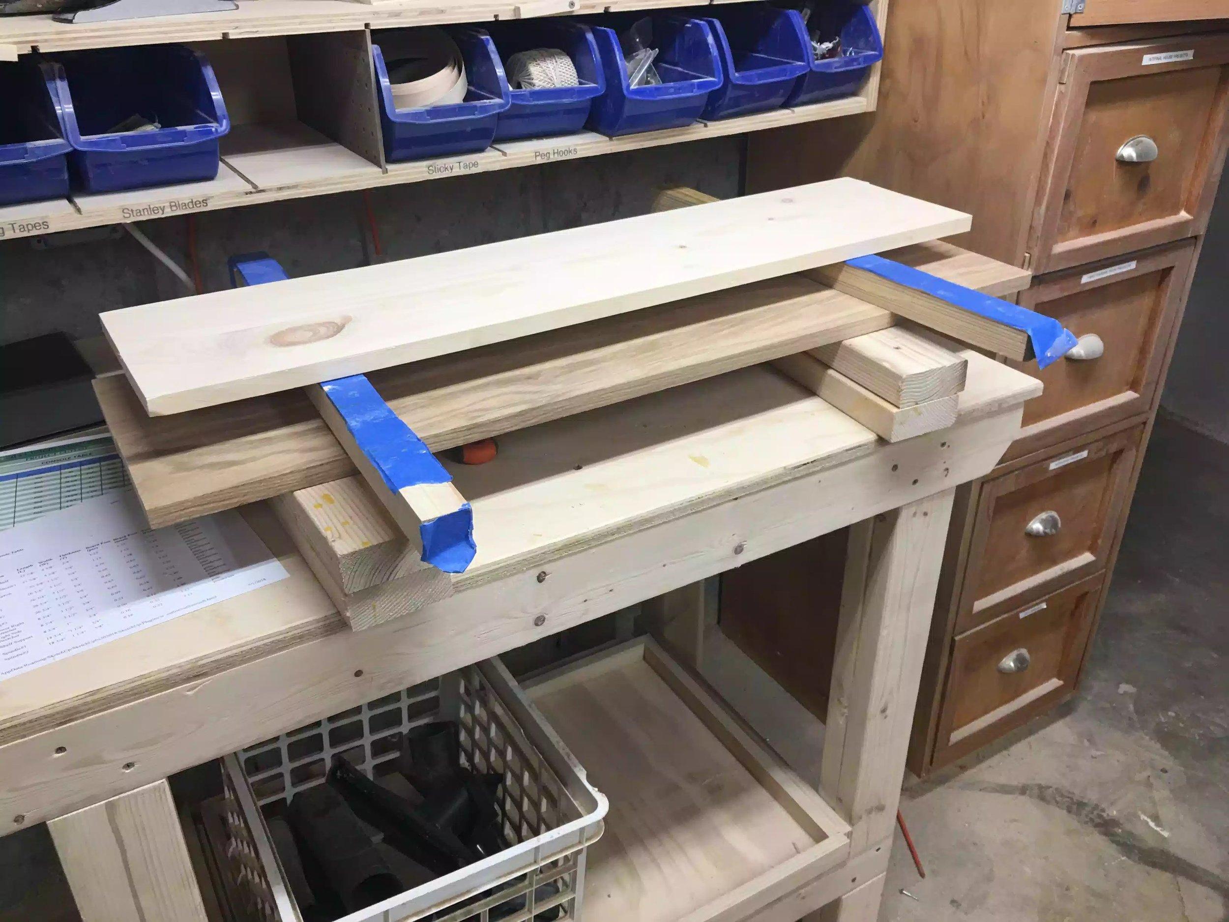 Panels all glued