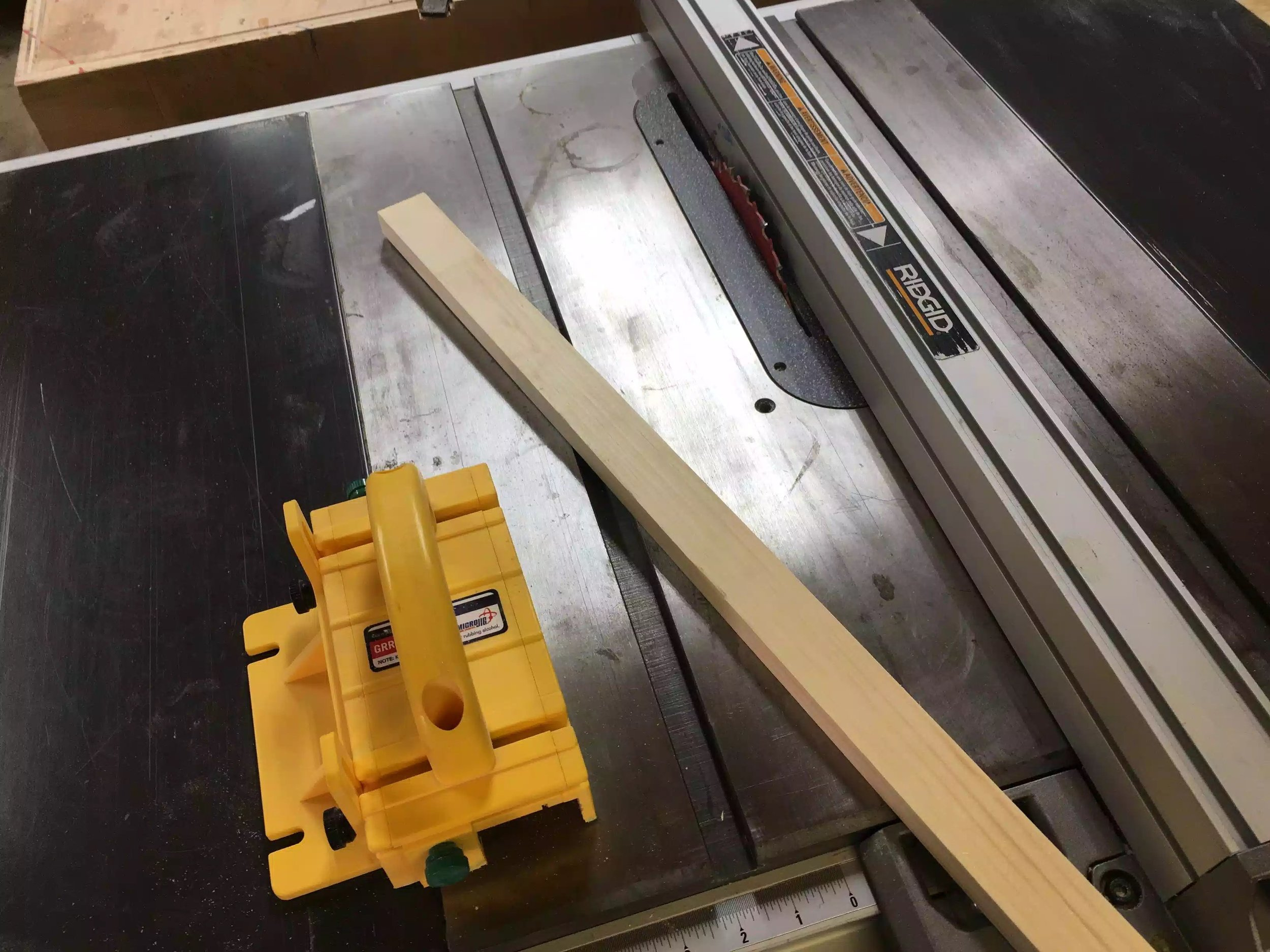 Using my Grripper and the table-saw I ripped the molding off.