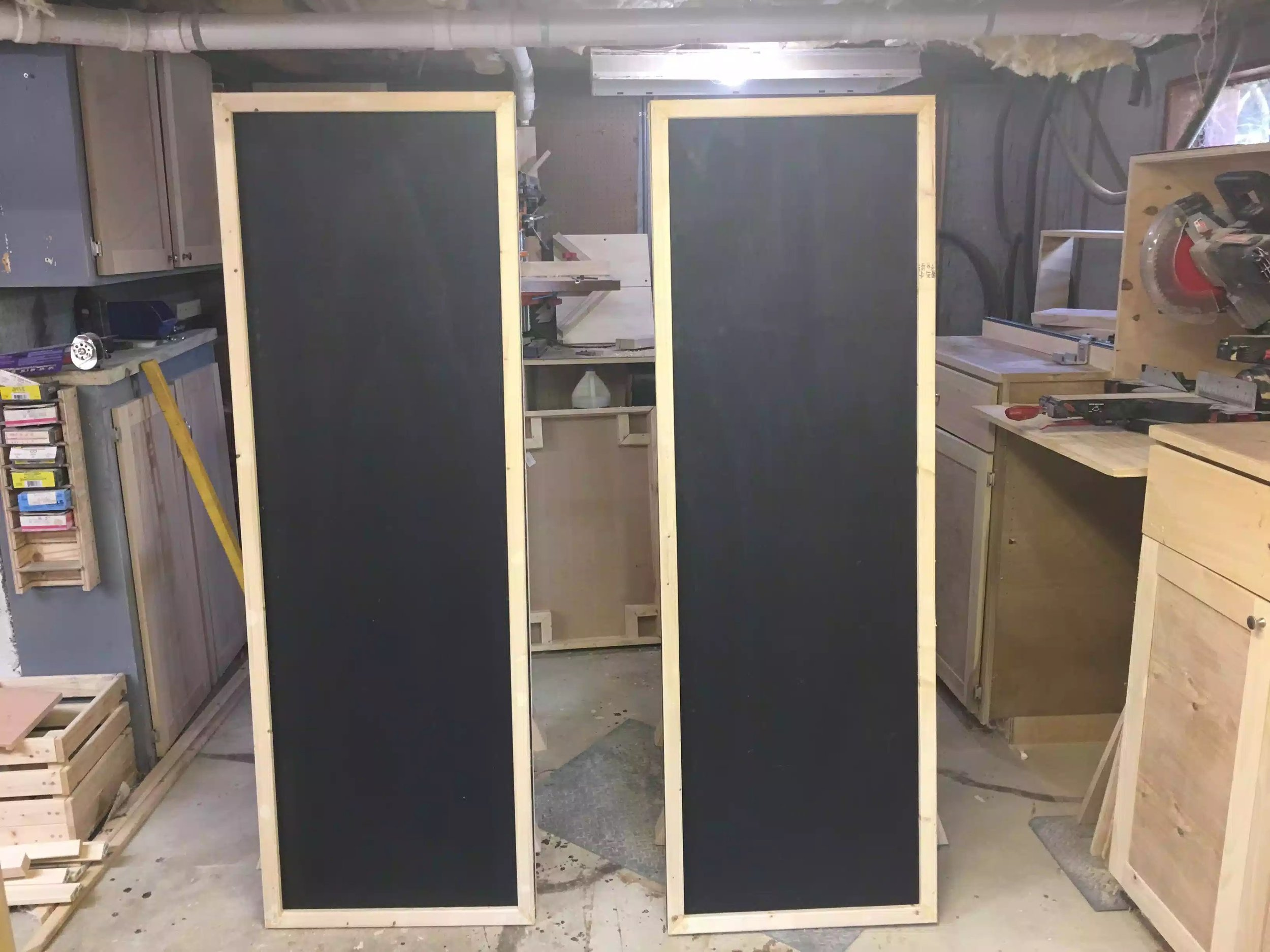 Here is the front side of the panels, still have alot of work to do but they are starting to take shape.