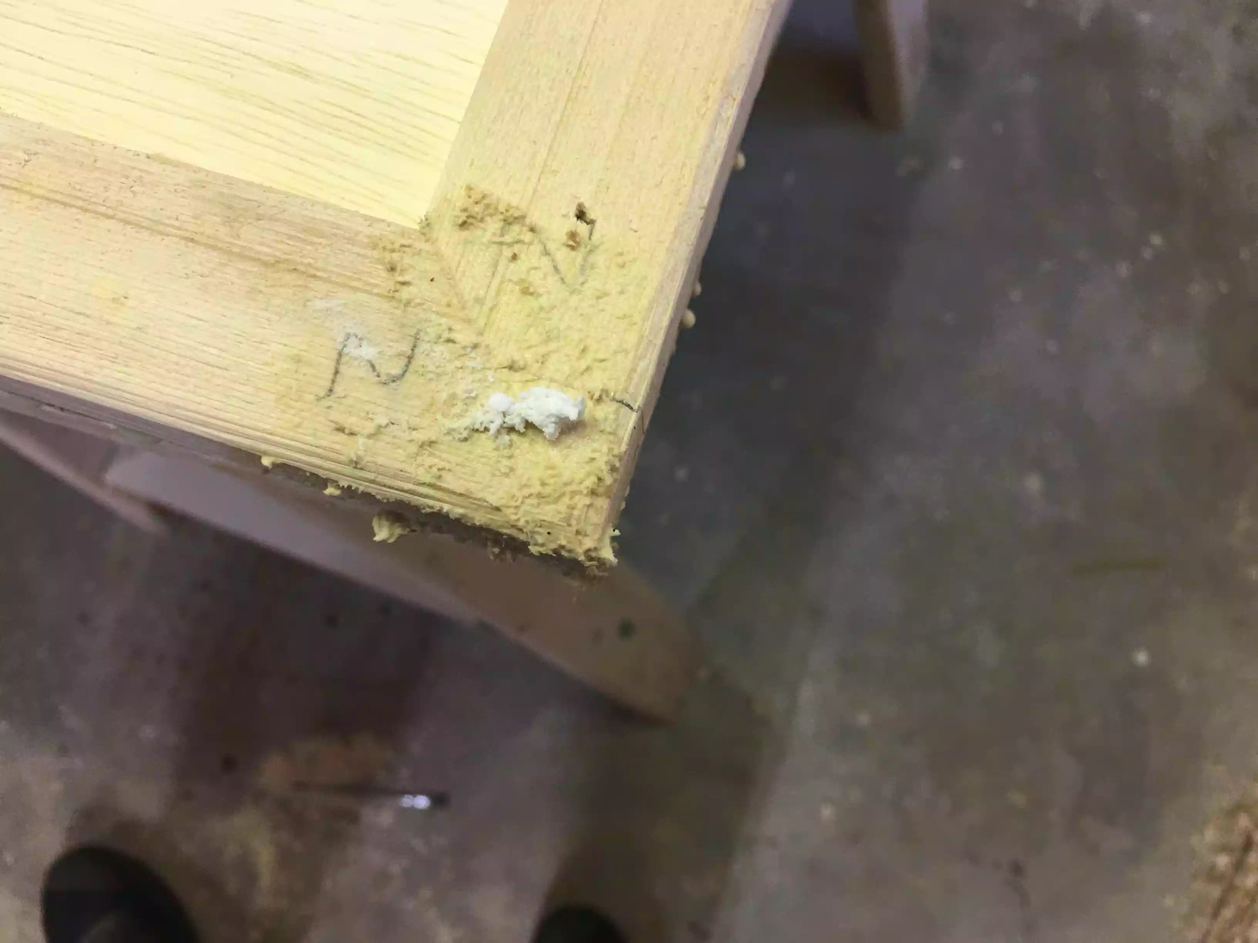 Here is the joint after I have applied the wood paste, i will clean it up tomorrow.