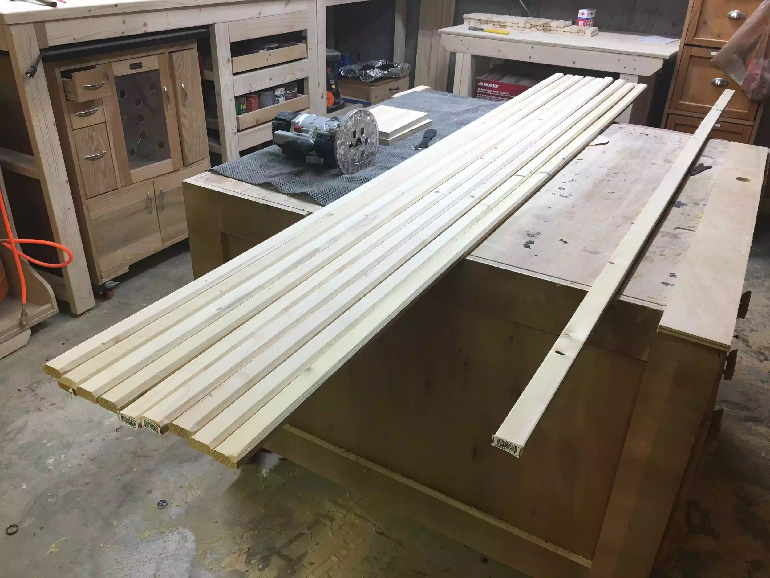 Here are the lengths of wood all with the chamfer profile.