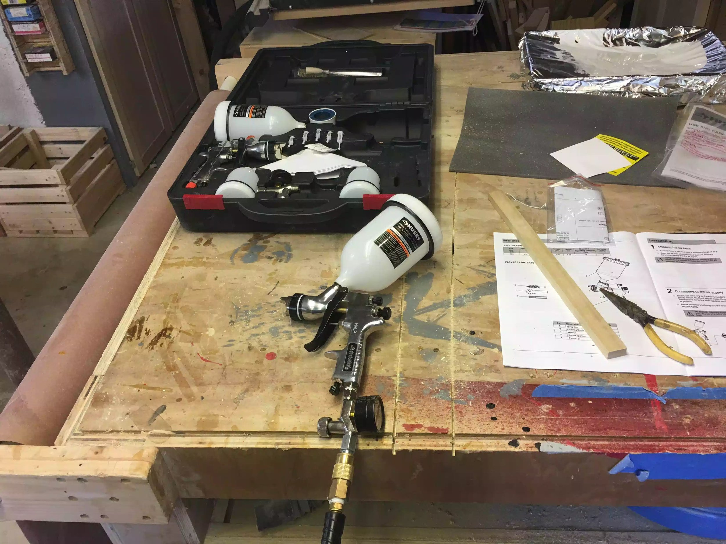 Here is a picture of my HVLP spray gun.