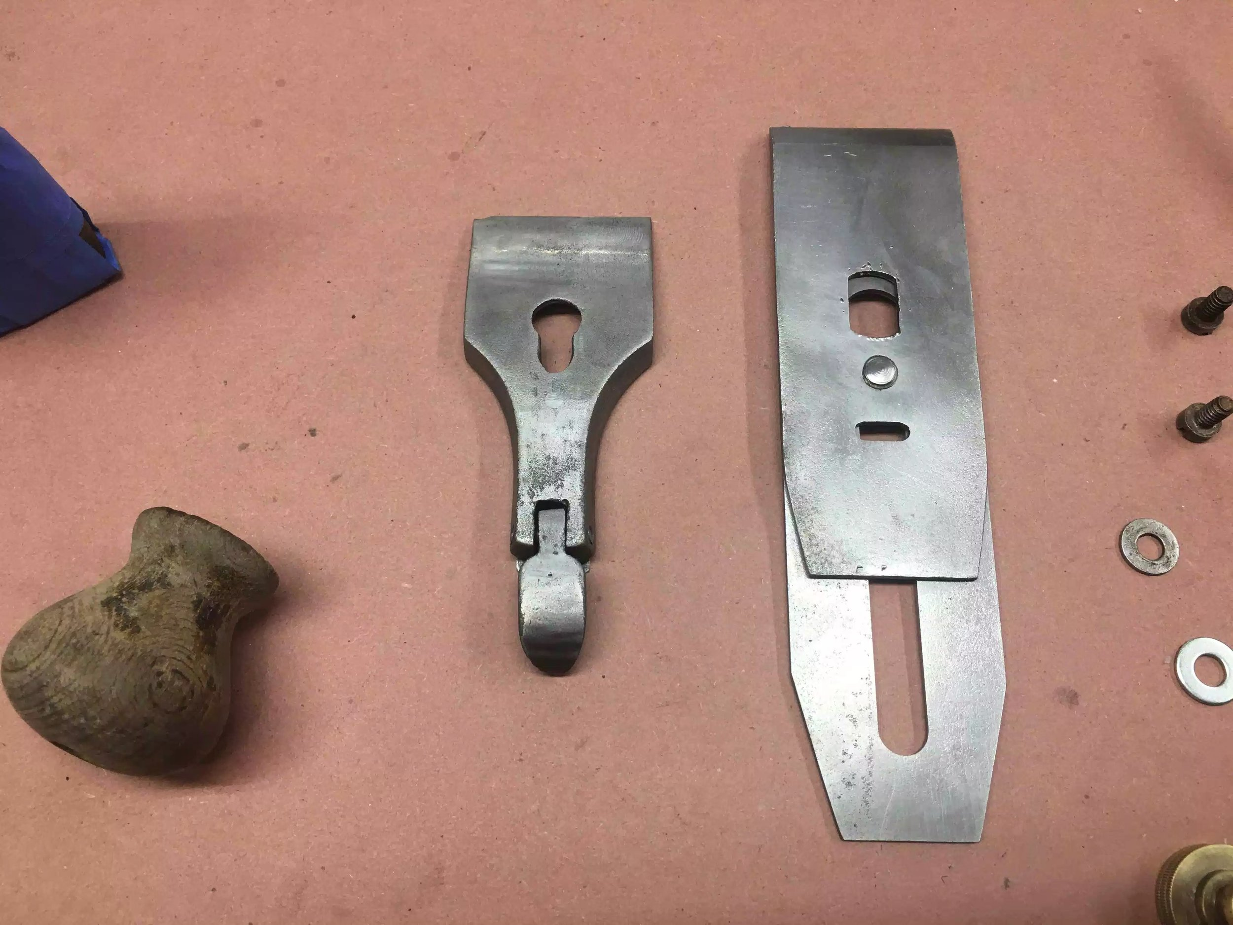 Plane Iron, Chip breaker and the lever cap