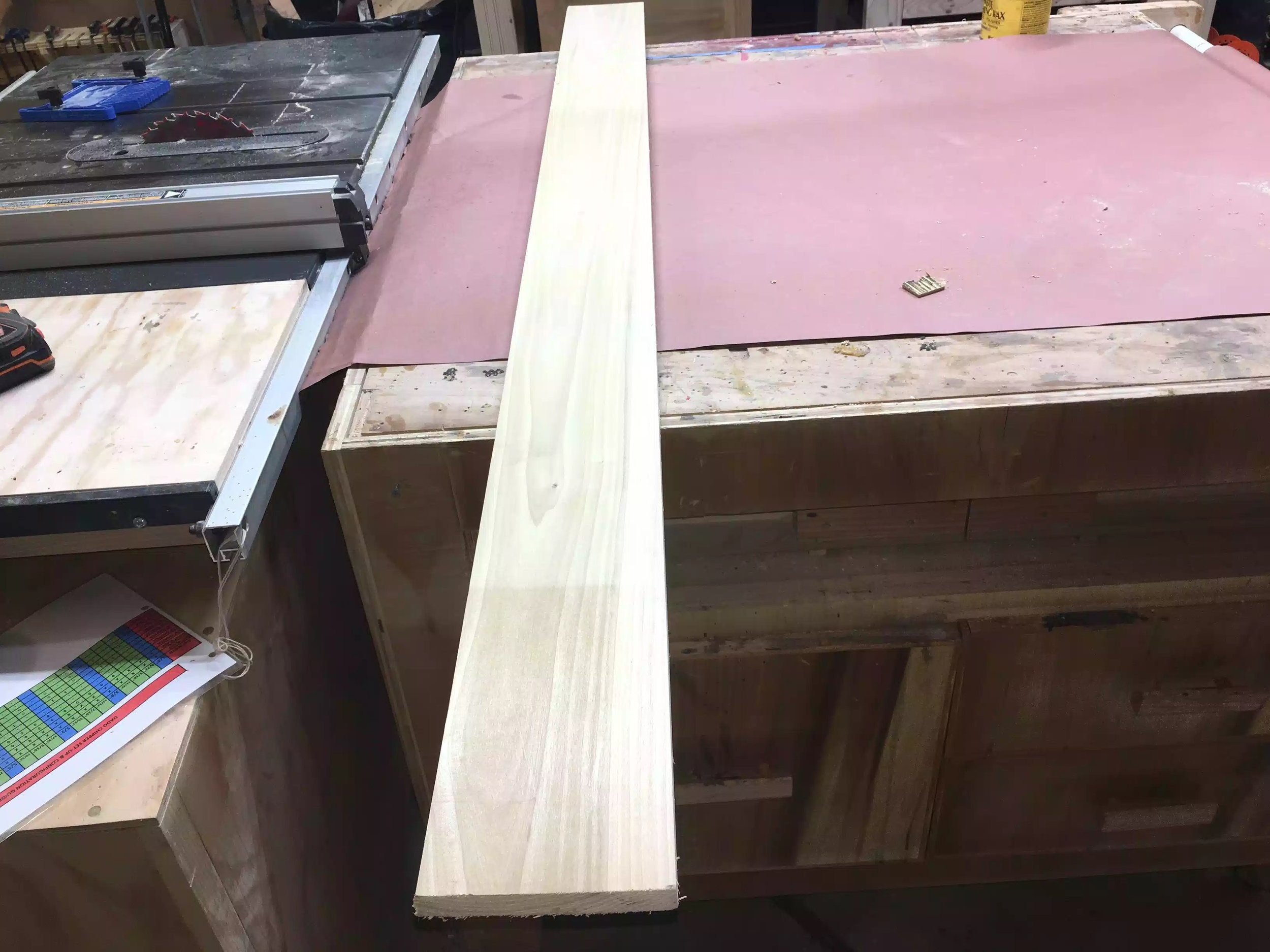 Here is the poplar length of wood that I used for the box.