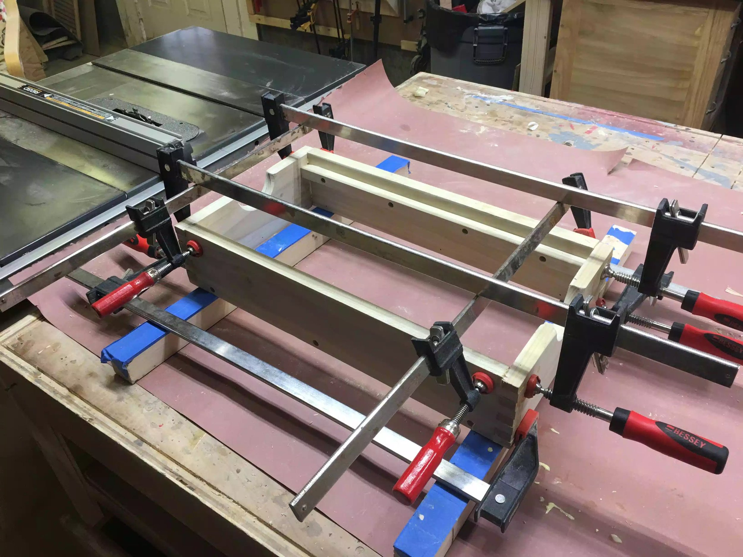 Here is another view of the glue-up