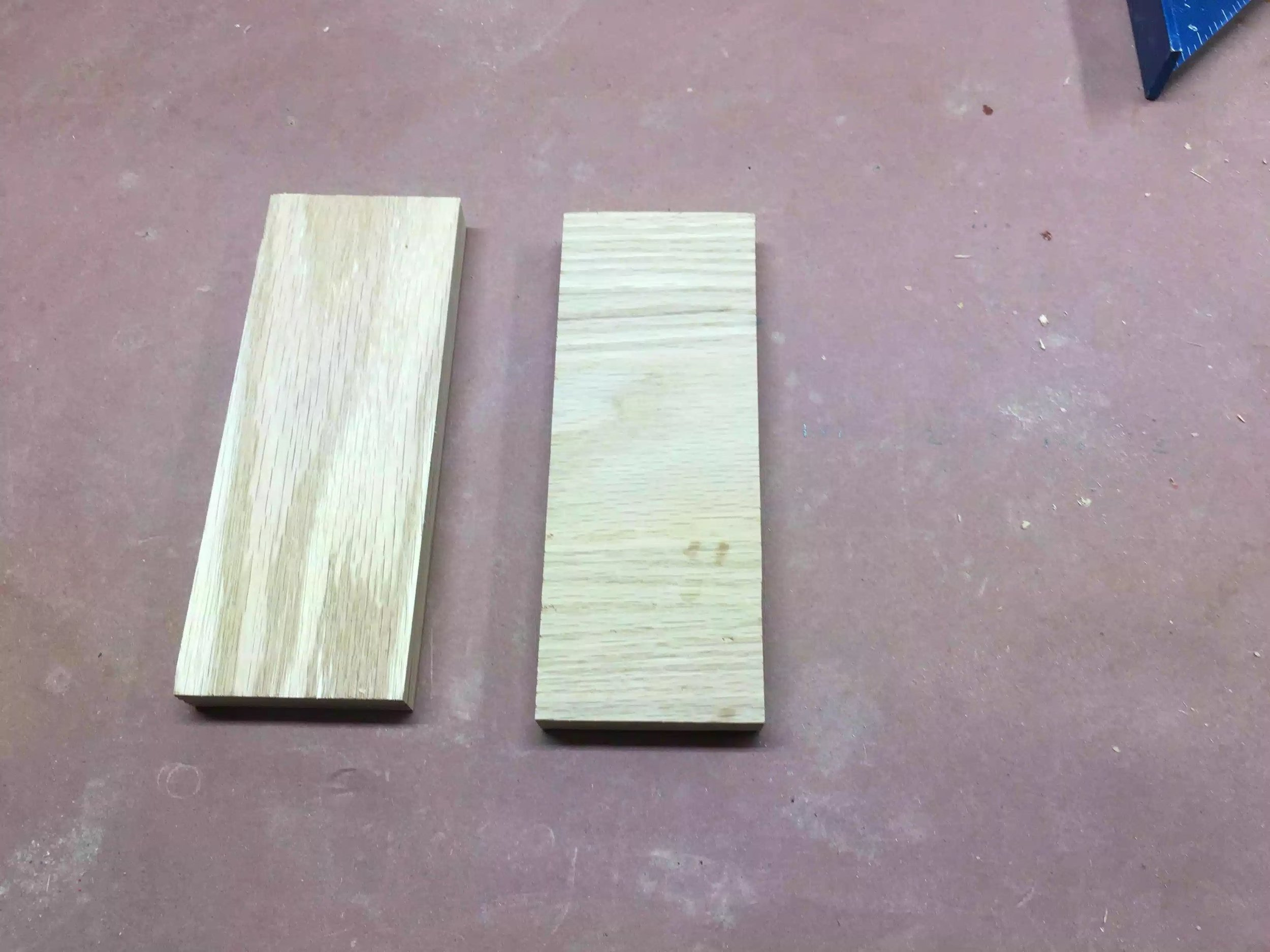 Here are the 2 pieces of oak that I used for the base of the strop.