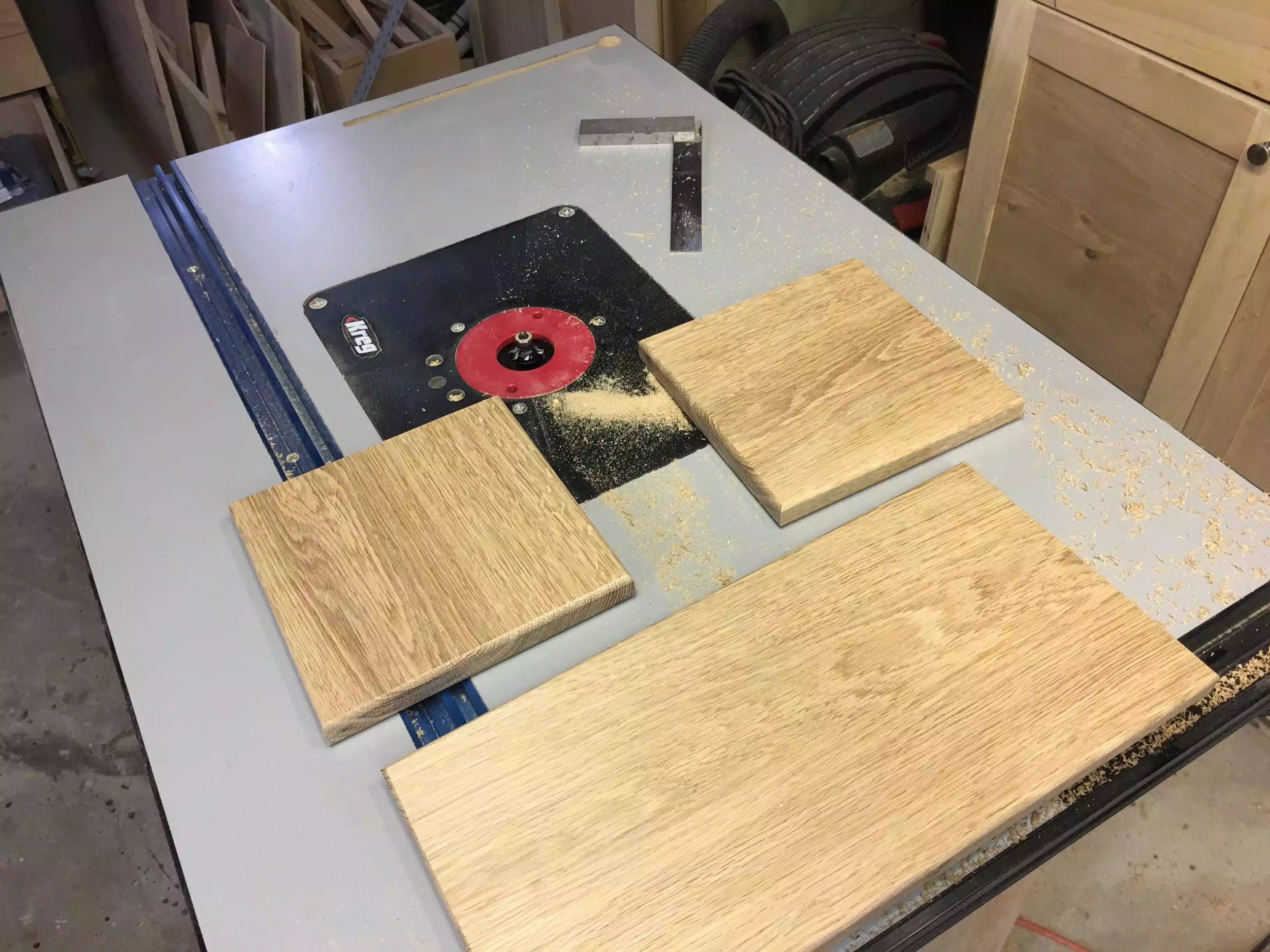 All 3 trivet blanks have the round-over now and really feel smooth to the touch.