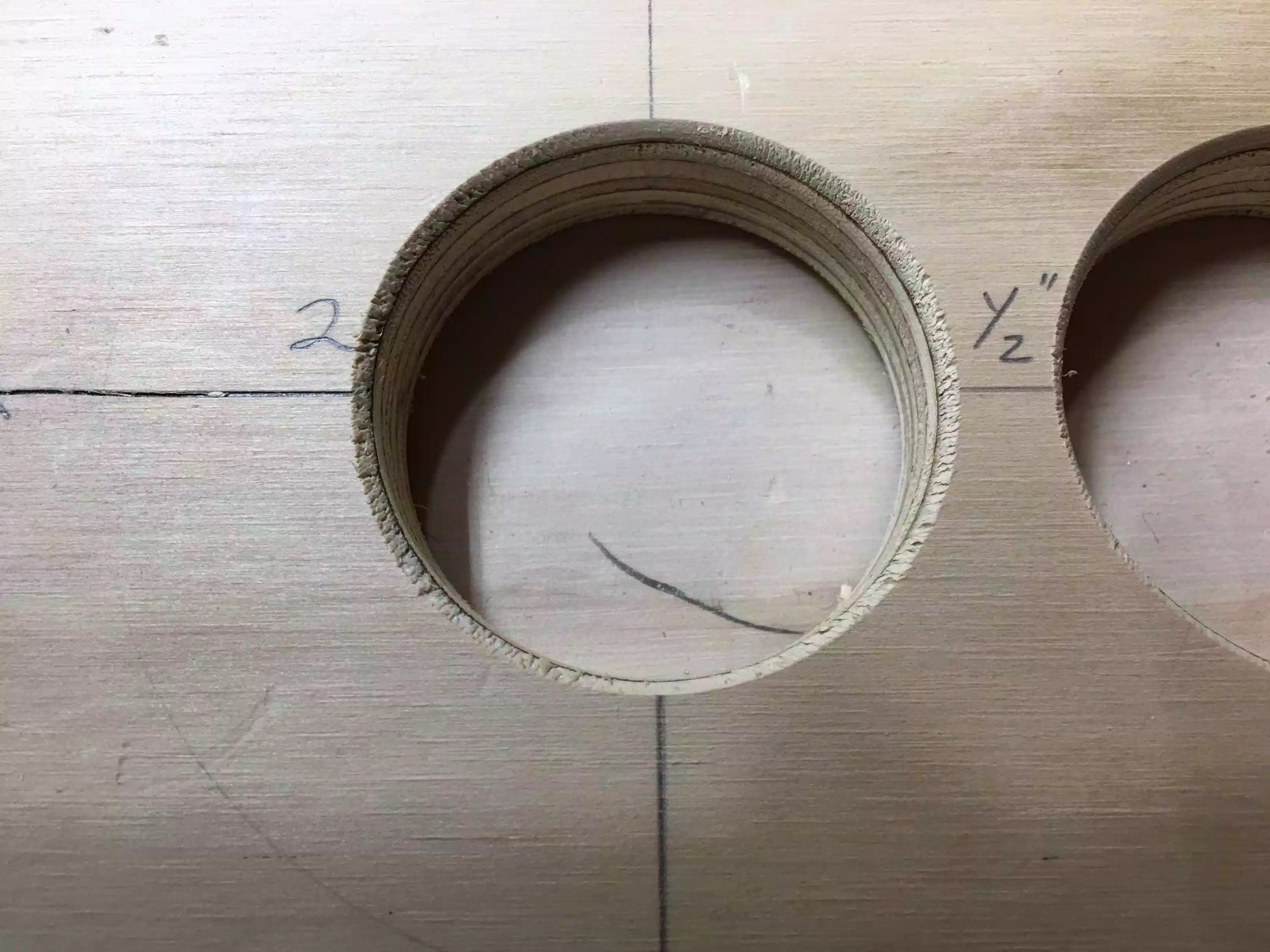 Here is the round-over profile added to one of the holes on the top. This will look a lot better when its actually wood.