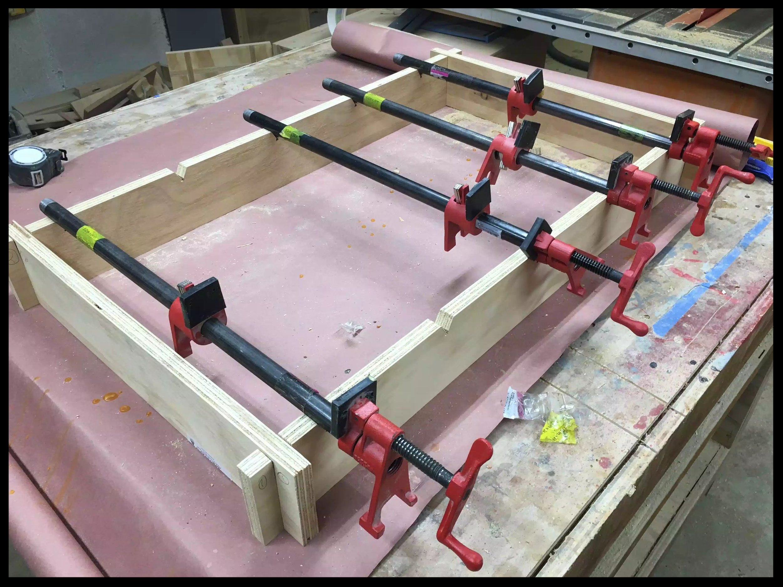 Here is the finished clamping jig