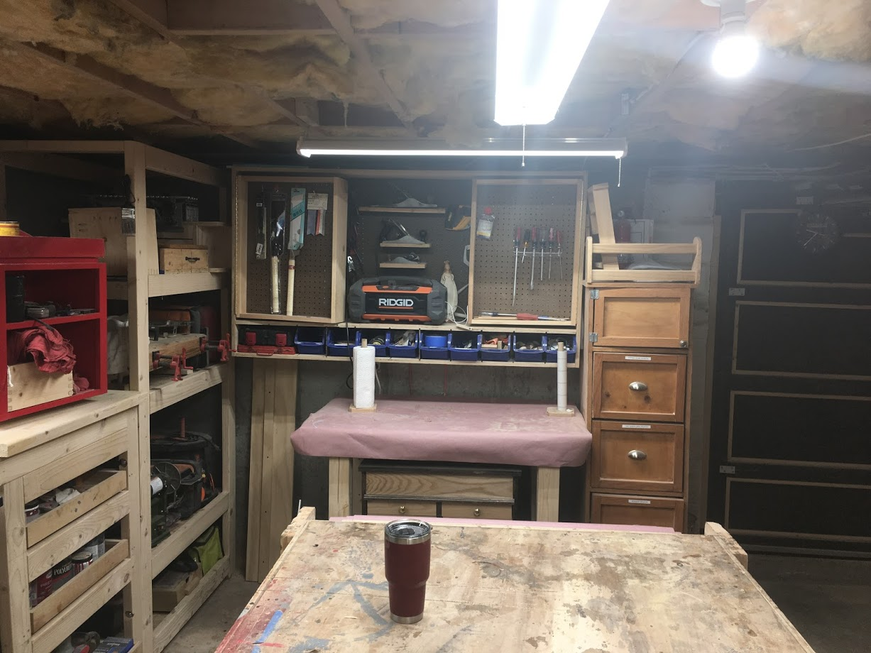 North Wall - Hand tool wall storage