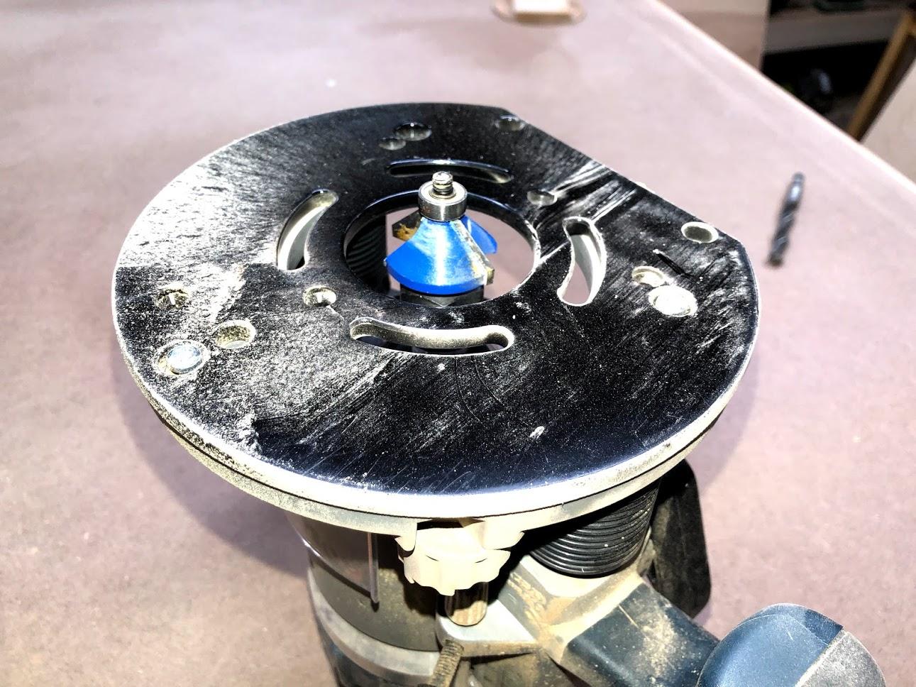 Here is the chamfer bit I used on the slid oak trim