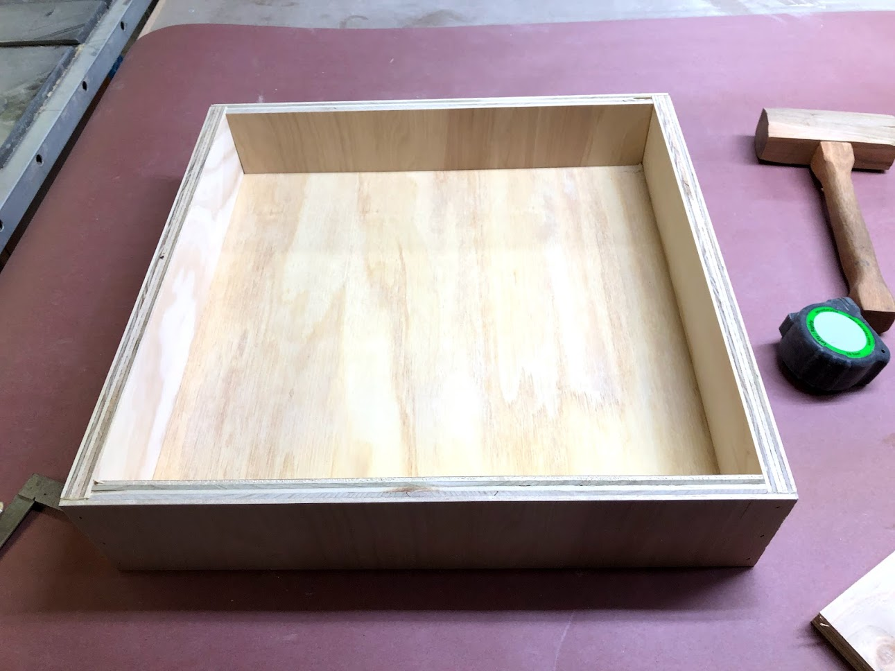 Here is one of the assembled drawers