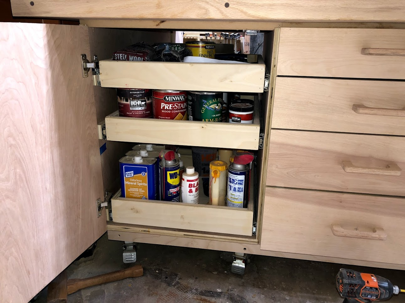 Storage for my finishes